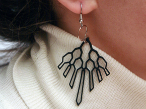 Victoria Earings in Black Strong & Flexible