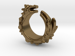 Dragon Ring  in Natural Bronze