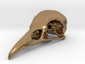 Bird Skull Pendant/Bead in Natural Brass