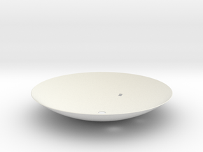Cassini 1/20th Main Dish Antenna in White Natural Versatile Plastic