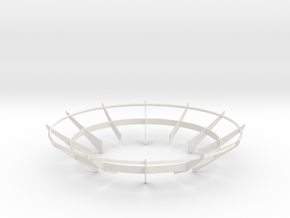 Cassini 1/20th Main Dish Antenna Ribs in White Strong & Flexible