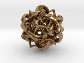 Dodecahedron VI, pendant in Natural Brass