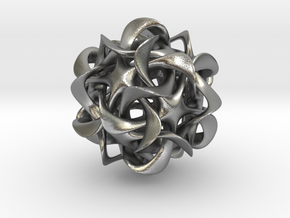 Dodecahedron VI, pendant in Natural Silver