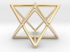 Star Tetrahedron Pendant in 14K Yellow Gold