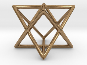 Star Tetrahedron Pendant in Natural Brass