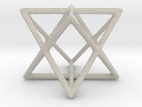 Star Tetrahedron Pendant in Natural Sandstone
