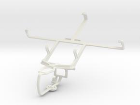 Controller mount for PS3 & Spice Mi-535 Stellar Pi in White Natural Versatile Plastic