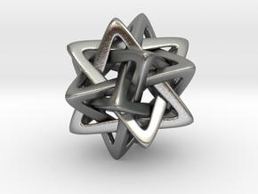 Five Tetra, pendant in Natural Silver
