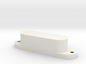Bass V pickup cover - 3 pole in White Strong & Flexible