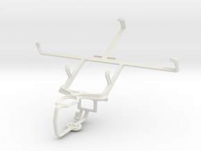 Controller mount for PS3 & verykool s758 in White Natural Versatile Plastic