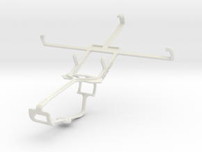 Controller mount for Xbox One & Yezz Andy A5 in White Natural Versatile Plastic