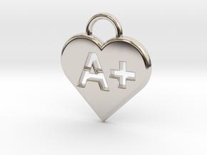 Blood type keychain [customizable] in Platinum