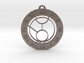 Max - Pendant in Polished Bronzed Silver Steel