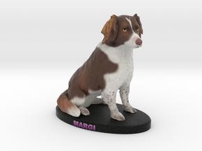Custom Dog Figurine - Margi in Full Color Sandstone