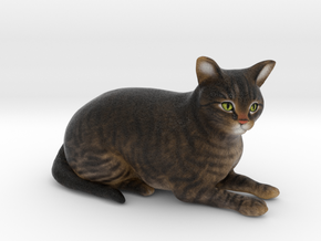 Custom Cat Figurine - Mowgli in Full Color Sandstone