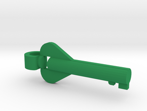 Heart Key Pendant in Green Processed Versatile Plastic