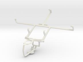 Controller mount for PS3 & ZTE Grand Memo V9815 in White Natural Versatile Plastic