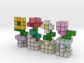 VOXEL FLOWER DECORATION SET in Full Color Sandstone