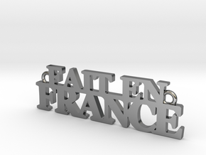 Fait en FRANCE Pendant in Fine Detail Polished Silver