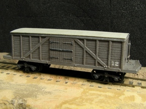 R11x2 N scale 1840 Winans boxcar, Württemberg x2 in Frosted Ultra Detail