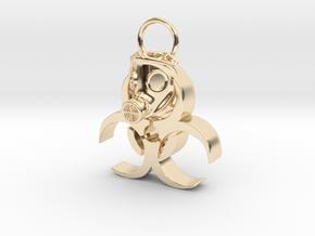 Gasmask in 14K Yellow Gold