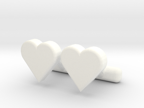 Heart Cl in White Processed Versatile Plastic