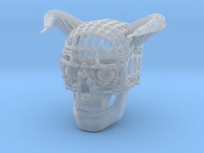 Skull of Devil in Smooth Fine Detail Plastic