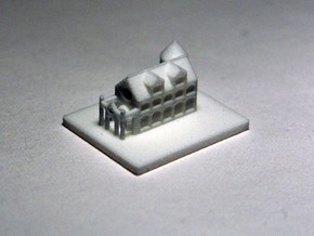 Miniature castle in White Natural Versatile Plastic