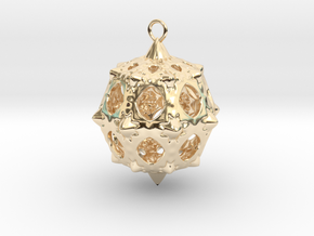 Christmas Bauble No.5 in 14K Yellow Gold