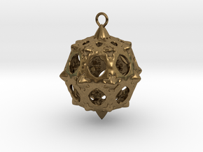 Christmas Bauble No.5 in Natural Bronze