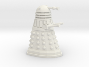 Dalek Mini 30mm Scale in White Natural Versatile Plastic
