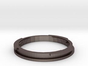 EFMount Adapter For Minolta SR lenses in Polished Bronzed Silver Steel