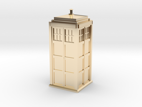 Doctor Who Tardis in 14K Yellow Gold