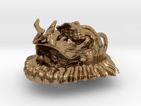 Evil Skull biker pendant in Natural Brass