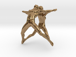 Hooped Figures 30mm A in Natural Brass