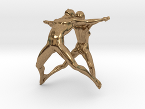 Hooped Figures - Joy - 20mm in Natural Brass