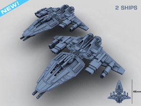 HOMEFLEET Destroyer -  2 ships in Smooth Fine Detail Plastic