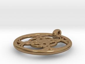 Chaldene pendant in Natural Brass