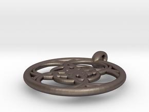 Chaldene pendant in Polished Bronzed Silver Steel
