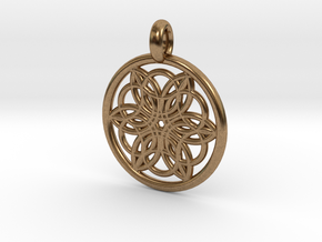 Pasiphae pendant in Natural Brass