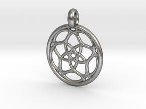 Himalia pendant in Natural Silver
