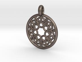 Elara pendant in Polished Bronzed Silver Steel