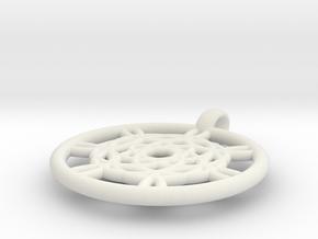 Harpalyke pendant in White Natural Versatile Plastic
