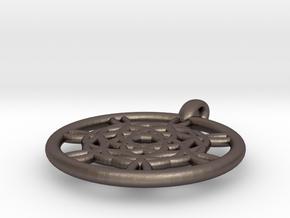 Harpalyke pendant in Polished Bronzed Silver Steel