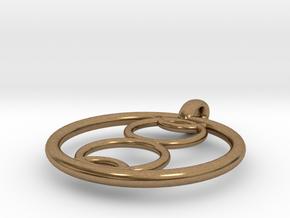 Kalyke pendant in Natural Brass