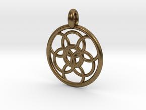 Lysithea pendant in Natural Bronze