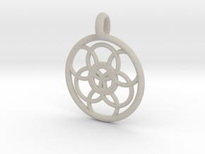 Lysithea pendant in Natural Sandstone