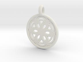 Carme pendant in White Natural Versatile Plastic