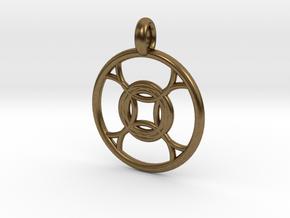 Leda pendant in Natural Bronze