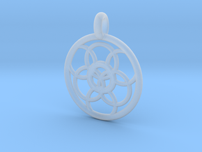 Lysithea pendant in Smooth Fine Detail Plastic